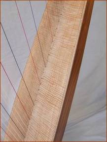 Picture of harp soundboard