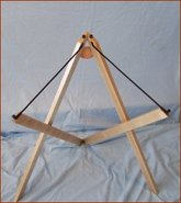Picture of folding stand for hammered dulcimer