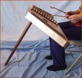 Picture of screw in lap leg for hammered dulcimer